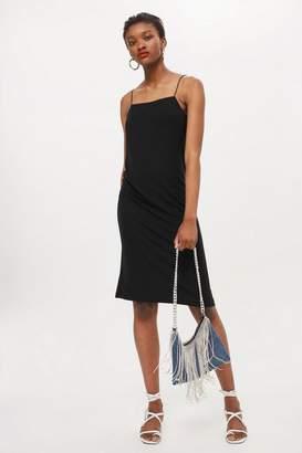 Topshop Crepe Square Neck Slip Dress