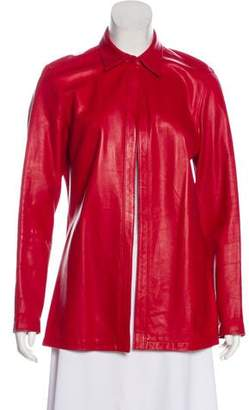 Lafayette 148 Leather Collar Jacket