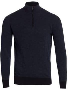 Loro Piana Roadster Cashmere Half Zip Sweater