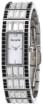 Mother of Pearl Glamour World Glamour Time Ladies Watch GT600ST3-2STbk-w with Dial and Silver Stainless Steel Bracelet