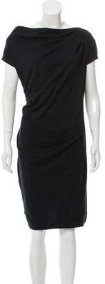 Brunello Cucinelli Cowl-Neck Knee-Length Dress