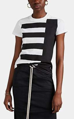Rick Owens Women's Block-Print Cotton T-Shirt - Milk Black