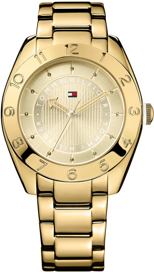 Tommy Hilfiger Women's Gold-Tone Stainless Steel Bracelet Watch 40mm 1781357