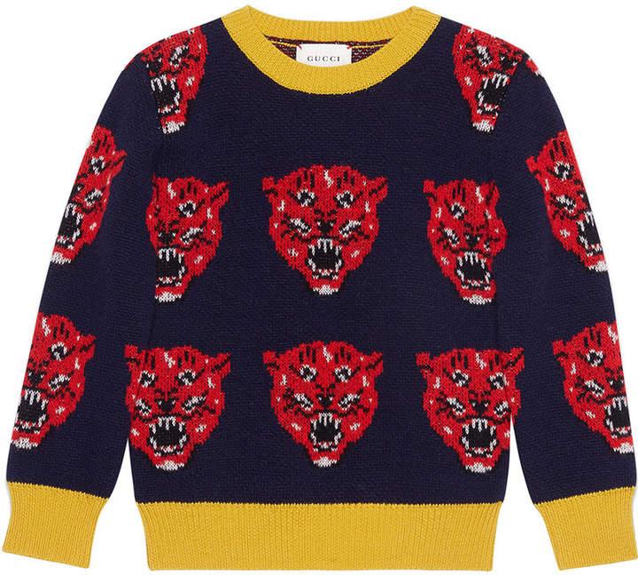 Gucci Kids Tiger intarsia jumper