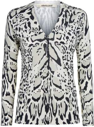 Roberto Cavalli Lynx Knitted Cardigan