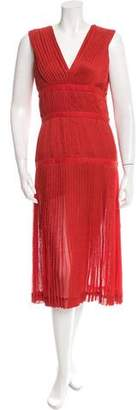 Altuzarra Pleated V-Neck Dress w/ Tags