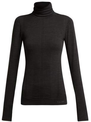 Falke - Thermal Roll Neck Performance Top - Womens - Black