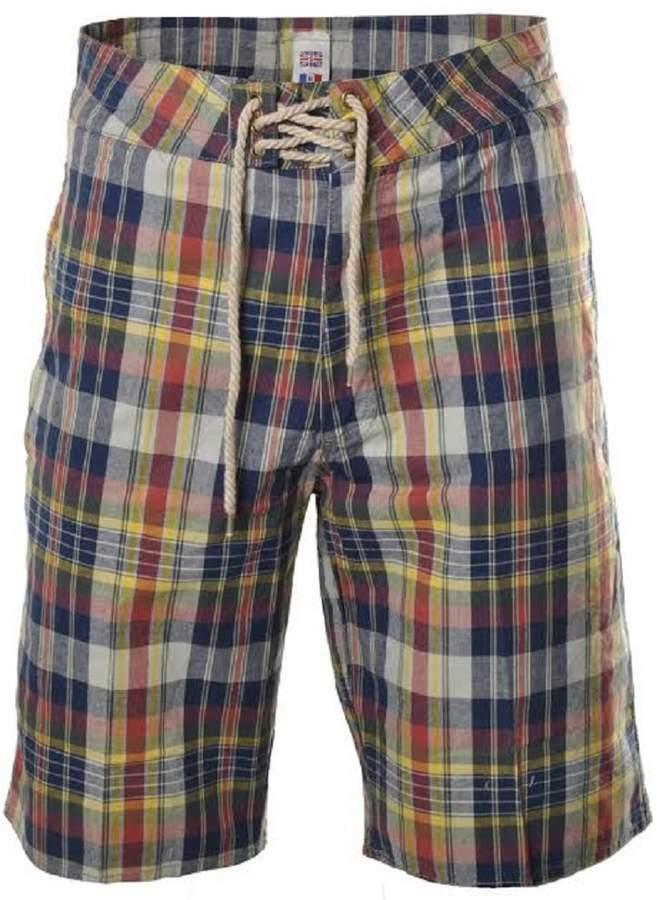Momo&Ayat Fashions Mens Checkered Summer Zip Fly Cotton Shorts Mens Size -XXL