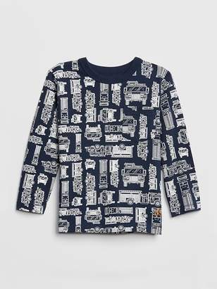Gap Print Pocket Long Sleeve T-Shirt
