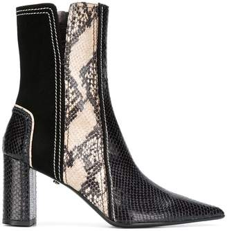 Schumacher Dorothee snake-effect ankle boots