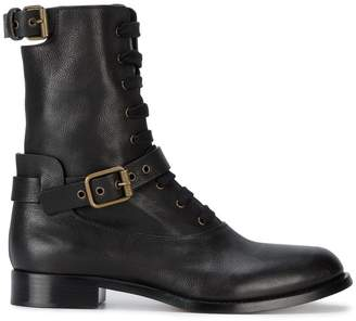 See by Chloé Grey & Brown Eileen Lace-Up Boots TrLOszaxFG