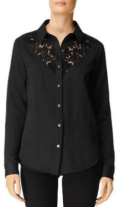 J Brand Lula Lace-Inset Shirt