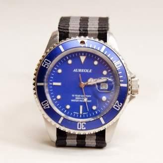 Blade + Blue Vintage Aureole Blue Diver's Watch