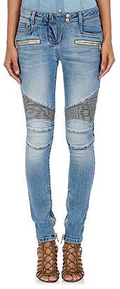 Balmain Women's Moto Jeans $1,330 thestylecure.com