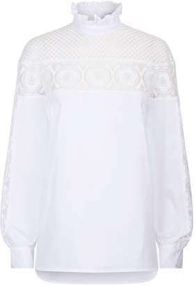 Sandro Lace Detail Blouse