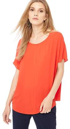J by Jasper Conran Red V-Neck Cap Sleeve Top