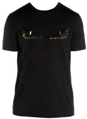 Fendi Embellished Eye Graphic T-Shirt