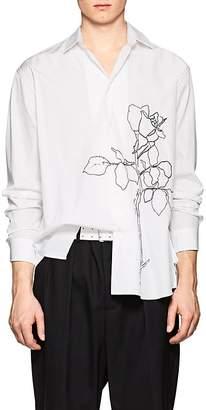 Oamc Men's Embroidered Cotton Oversized Tunic