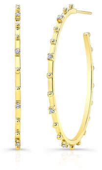 Ron Hami Bubble 14k Gold Diamond Hoop Earrings