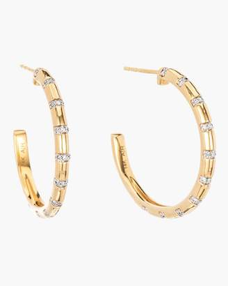 Adina Large Diamond Stripe Hoop Earrings