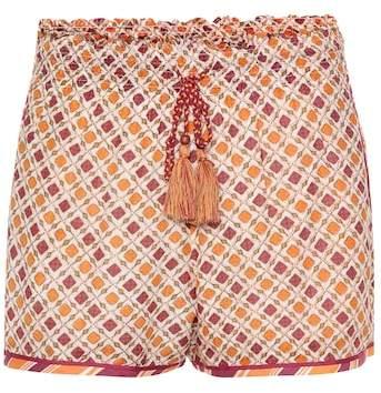 Talitha Shorts aus Baumwolle und Seide