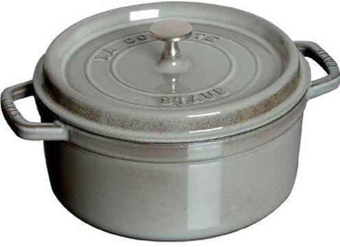 Staub Graphite Grey Round Cocotte