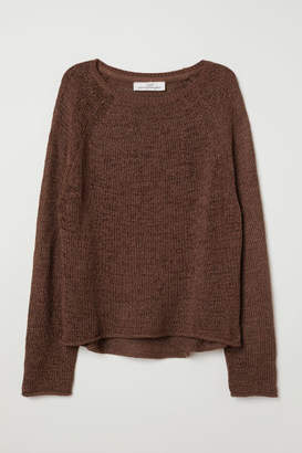 H&M Loose-knit Sweater - Brown