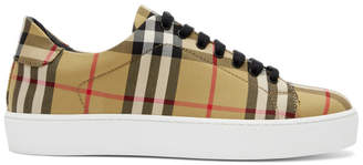 Burberry Tan House Check Westford Sneakers