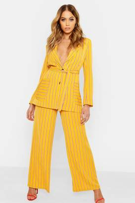 64705289040f boohoo Yellow Women s Wide Leg Pants - ShopStyle