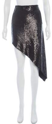 IRO Sequinned Midi Skirt Black Sequinned Midi Skirt