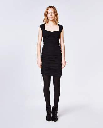 Nicole Miller Light Weight Matte Jersey Ruched Dress