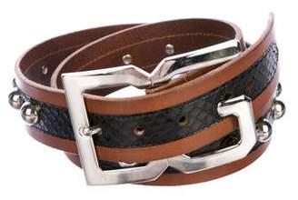 Dolce & Gabbana Studded Snakeskin Belt