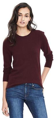 Italian Cashmere Blend Puff Sleeve Crew Pullover $68 thestylecure.com