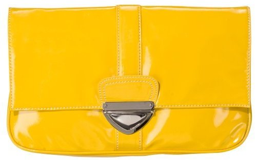 Xhilaration Oversized Clutch - Yellow