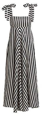 Zimmermann Women's Honour Sleeveless Linen Chevron Maxi Dress