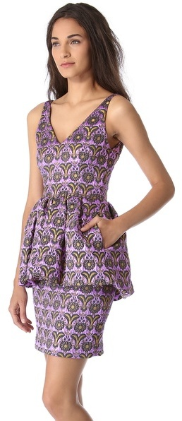 Vera Wang collection Sleeveless Floral Cloque Dress