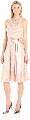 Jessica Howard JessicaHoward Women's Fit and Flare Dress with Tie Sash