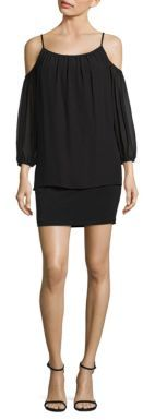 Laundry by Shelli Segal Popover Cold Shoulder Cocktail Dress $195 thestylecure.com
