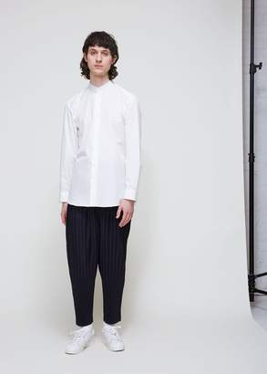 Issey Miyake Band Collar Broad Cloth Shirt