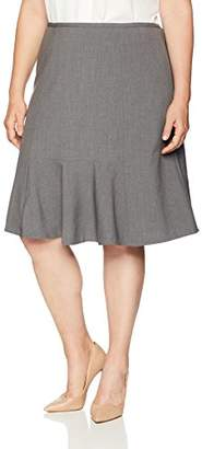 Nine West Women's Size Plus Flare Skirt