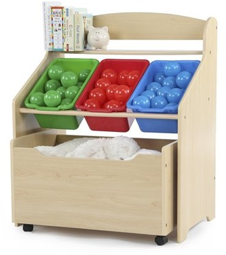 Humble Crew Tot Tutors 3-Tier Storage Unit with Rollout Toy Box