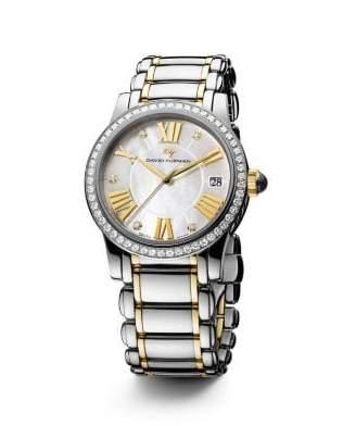 David Yurman Classic 34Mm Quartz Watch With 18K Gold And Diamonds
