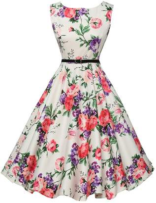 Forever 21 GRACE KARIN Vintage Dresses Retro Pinup Dresses Boatneck for Ball Prom Size XL F-21
