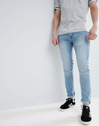 Solid Slim Stretch Jean in Bleach Wash