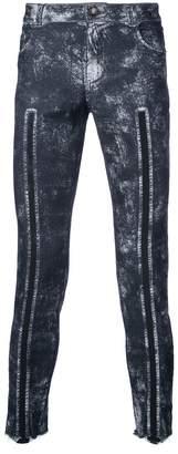 Tom Rebl line detail skinny jeans