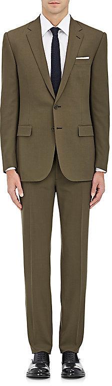 Ralph Lauren Purple LabelRalph Lauren Purple Label Men's Anthony Wool Two-Button Suit-Green, Dark green