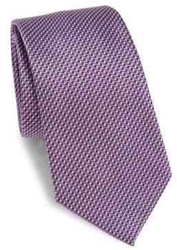 Armani Collezioni Chevron Patterned Tie