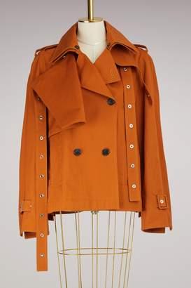 Proenza Schouler Short Cotton Trench Coat