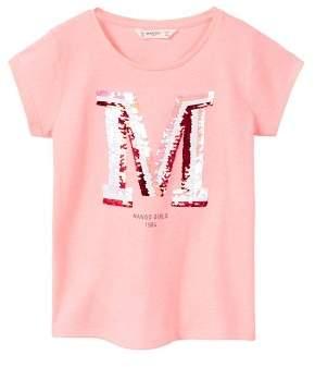 MANGO Reversible sequins t-shirt