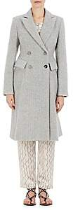 Isabel Marant Women's Danki Alpaca-Wool Double-Breasted Coat-Grey